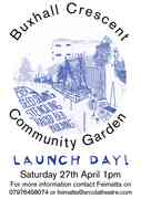 Buxhall Crescent Community Garden Launch Day - Saturday 27th April