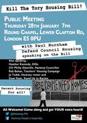 Kill the Housing Bill public meeting