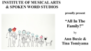 """""""All In The Family?"""" by Ann Buxie and Tina Tomiyama"""