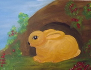 Rabbit by cave