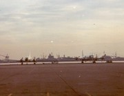 C-131 & C- 118 Parked at the sea wall NAS Alameda