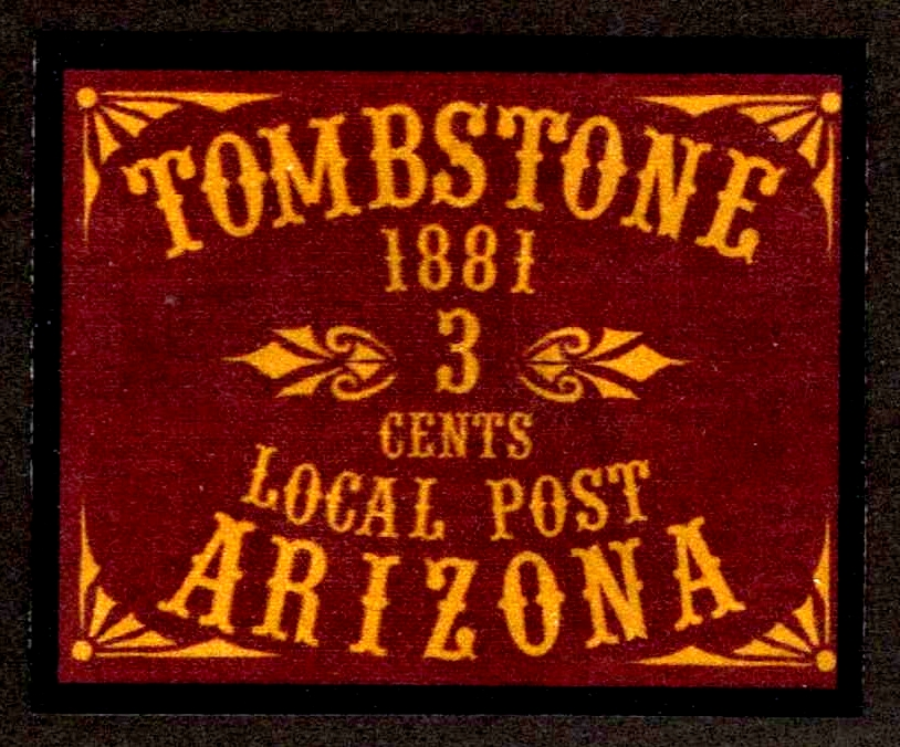 1881 Tombstone, Arizona Local Post Artistamp