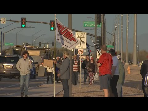 Group protests outside Perry High School following MAGA gear controversy