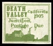 1905 Death Valley Junction Postage Due Artistamp