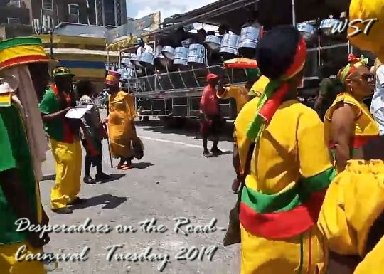 Desperadoes on the road -Carnival 2019