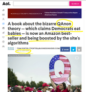 AOL Headline March 5th, 2019 Qanon Article