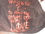 To flood the streets with love