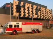 Heavy Rescue / Haz - Mat Co. Squad 14 (52) in front of Cincinnati Convention Center