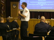 "My friend Batt. Chief Bob Ingram teaching Haz-Mat to Fire Recruits at the ""Rock"""