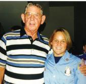 My grandpa and I at fire school graduation (1997)