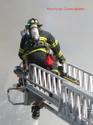 Ladder pipe in operation