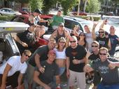 A bunch of FOOLS tailgating before Dropkick Murphy's concert