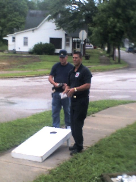 IFD Officer and Chief Keller