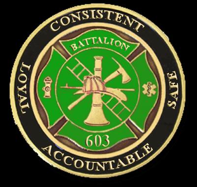 Okla City Fire Dept - Battalion 603C Challenge Coin
