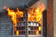 Fire takes out window