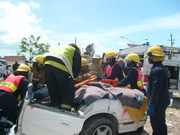 Volunteers training with Road safety guys