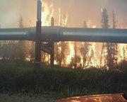 Wildland Fire near Trans Alaska Pipeline