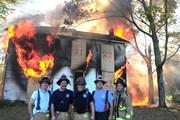 The burn down