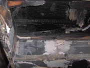 Fire from wires punched through I Beam (inside out fire)