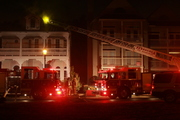 Chimney fire in downtown historic area