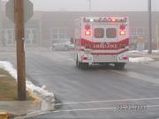 "Ambulance 1 ""transporting victim"""
