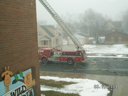View of ladder 1 from the second floor