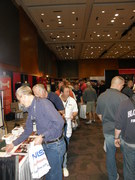 Line at the booth