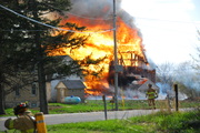 Kewaskum Barn fire 5-3-09 upon arrival