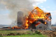 Kewaskum Barn fire 5-3-09, before water.