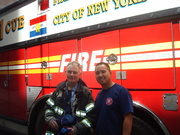 Hanging out at Rescue 1 with Capt. Bobby Morris