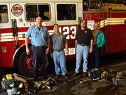 123 Truck, Capt. Mike Dugan, Chief Billy Goldfeder, Chief Pat McGrath, and I
