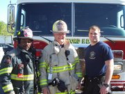 Chief Henry with Engine Company personnel.