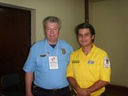 with lieutenant Scott Fromme visiting Paraguay