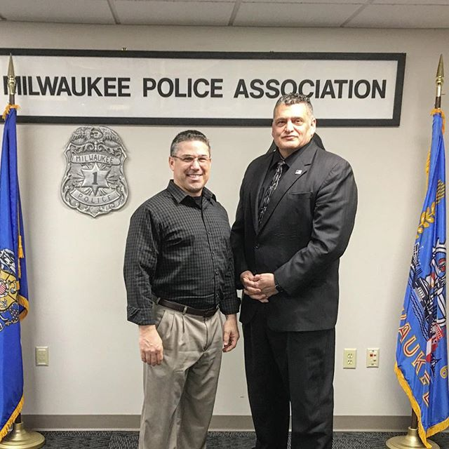 Brian with Milwaukee Police Association President Mike Crivello