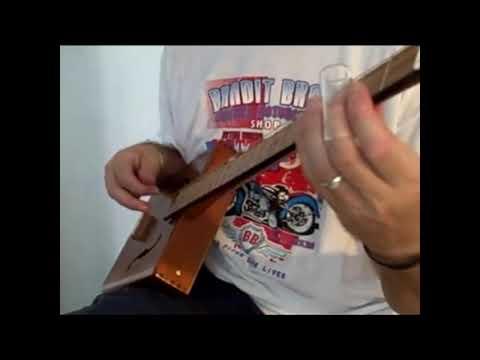 3 String Cigar Box Guitar - 1880's Bottleneck Slide Blues