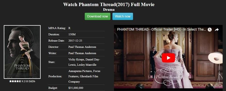 Phantom Thread 2017 full movie