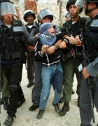 Little girl man handled by more than 6 israelis  pees ArrestedPalestinian