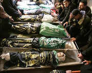 Palestine childre all dead lined up side by side