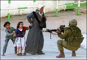 Palestine Israeli pointing gun to mother and 2 daughters terrorists