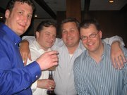 ME AND THE GUYS AT A WEDDING