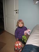 Freja with pink hair
