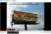 Billboard Project by highway in L.A.