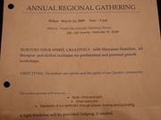 Nashville Friends Regional Gathering 2009