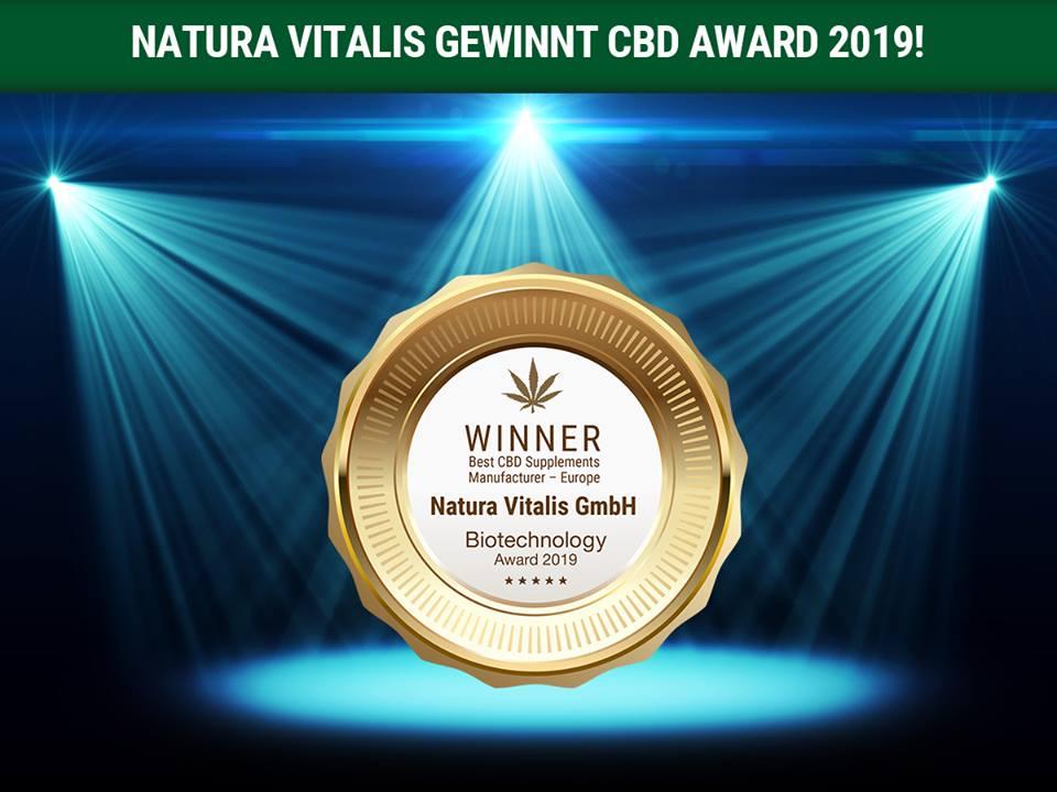 Auszeichnung besten CBD Hersteller Europas!