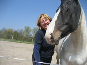 Imelda and her horse Lobke, rescued in 2006