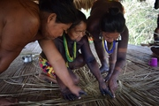 Elders collaborate to teach the weaving classes