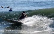 Longboard Bottom Turn!