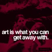 art is secretive,.....