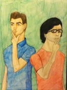 Rhett and Link - Colored Pencil