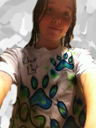 Me in my DOG PERSON shirt! :D
